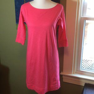 Lilly Pulitzer Hot Pink Pima Cotton Tee Dress S